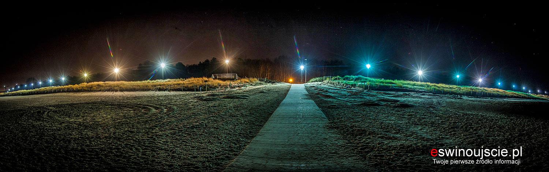 Plażą nocą