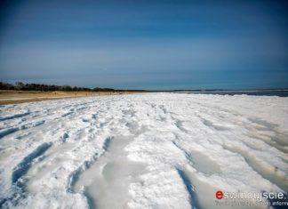 Zima - plaża w Świnoujściu