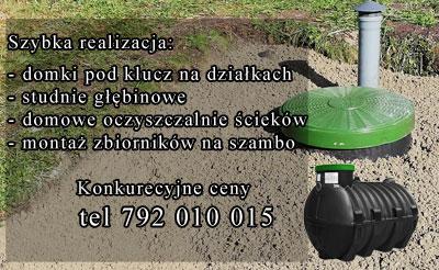 Świnoujście - Szambo - bicie studni - domki pod lucz