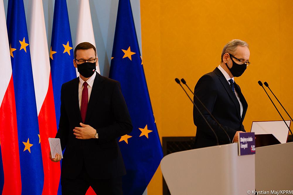 Warszawa Konferecja nt. COVID-19 Fot Krystian MajKPRM