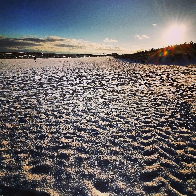 #Świnoujście - Styczeń - Zimowy poranek na plaży