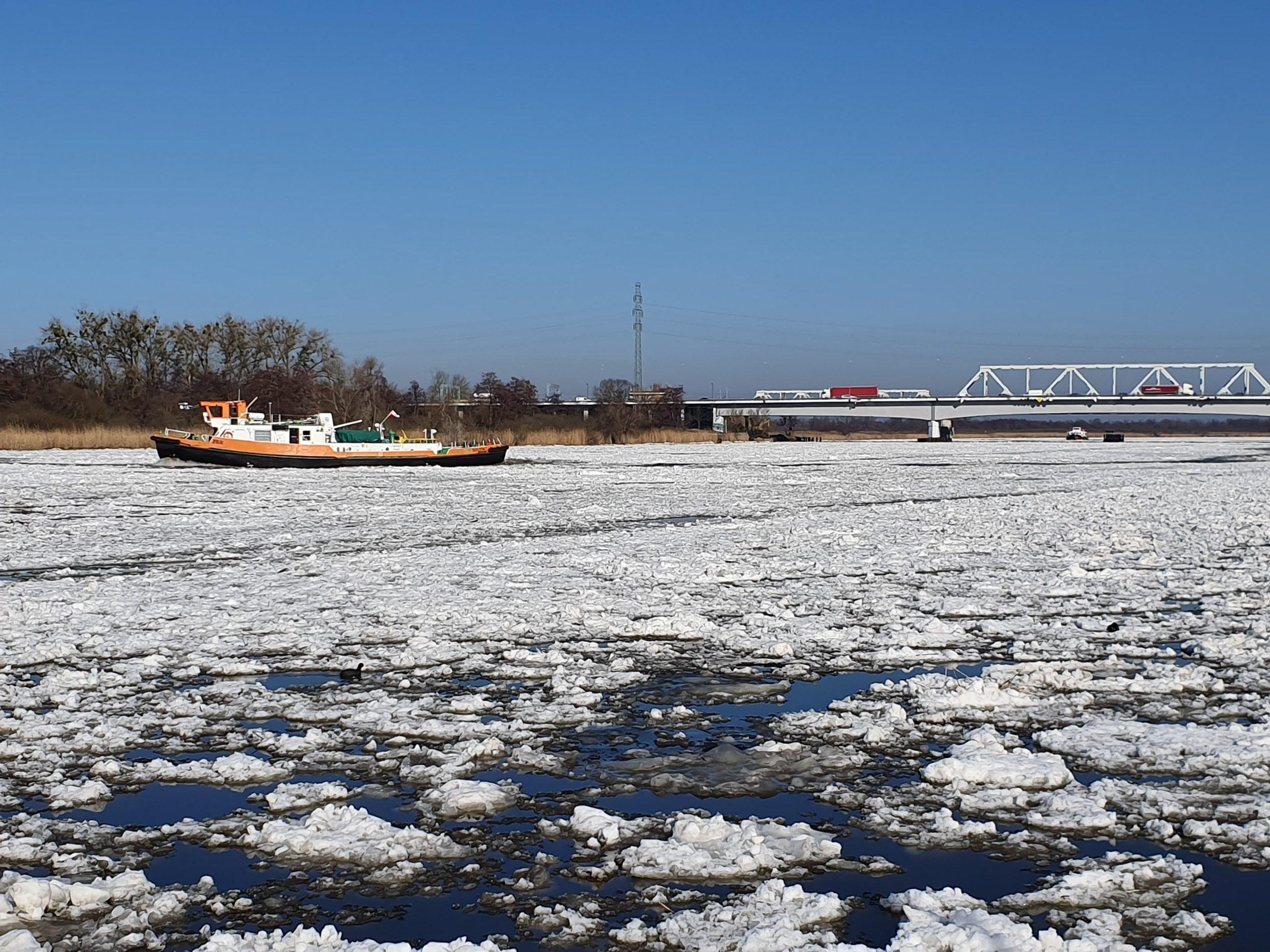 Koniec lodołamania w Szczecinie.