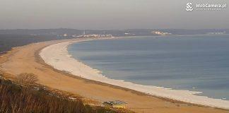 Świnoujście - Zobacz obraz z kamer na plaży -Plaża w Świnoujściu - Zima w odwrocie - Zobacz obraz z kamer na plaży