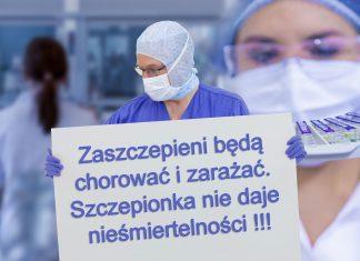 Zaszczepieni będą chorować i zarażać. Szczepionka nie daje nieśmiertelności !!!
