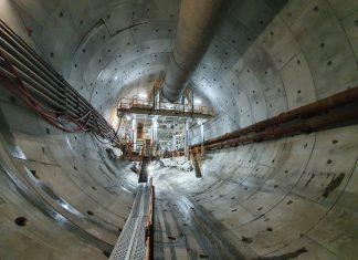 Świnoujście - Wydrążono już prawie 250 metrów Tunelu w Świnoujściu