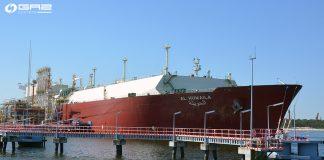 Trwa rozładunek 16 dostawy gazu do Gazportu w Świnoujściu