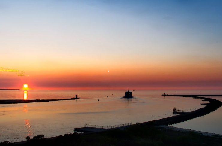 Świnoujście - Zachód słońca