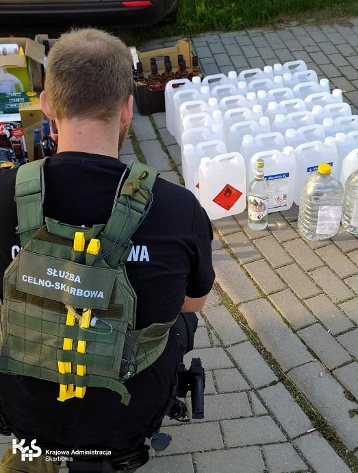 Nielegalne alkohol i tytoń ujawniony w Laskach Koszalińskich