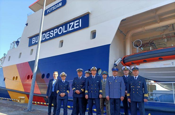 Świnoujście - Straż Graniczna - Wizyta niemieckiej jednostki